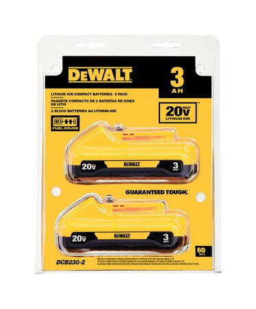 DeWalt 20V Max 3.0 ampere hour Lithium-Ion Battery Combo Pack