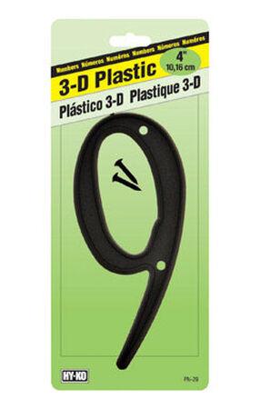 Hy-Ko Nail On Black Plastic Number 9 4 in.