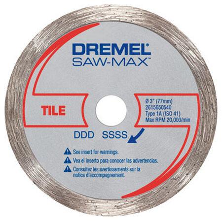 Dremel Steel Diamond Tile Wheel 3 in. 1 pk
