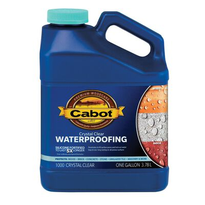 Cabot Water-Based Waterproofer Wood Protector Crystal Clear 1 gal.