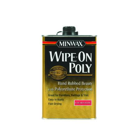 Minwax Indoor Clear Satin Wipe On Polyurethane 1 qt.