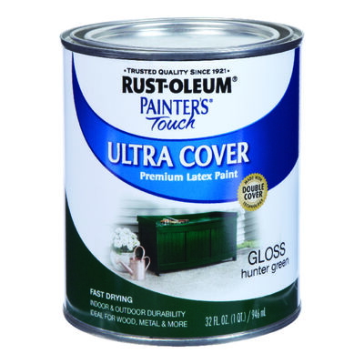 Rust-Oleum Painters' Touch Ultra Cover Interior/Exterior Latex Paint Hunter Green Gloss 1 qt.