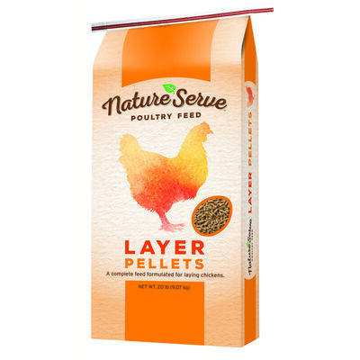 NatureServe Layer Feed Pellets For Poultry 20 lb.