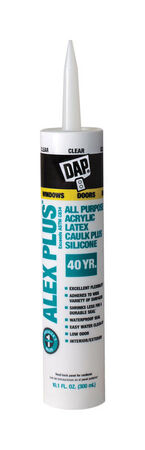 DAP Alex Plus Clear Acrylic Latex All Purpose Caulk 10.1 oz.