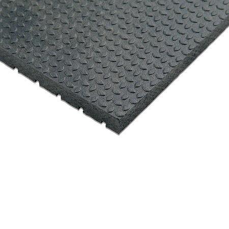 Flexgard Black Rubber Nonslip Anti Fatigue Mat 72 in. L x 48 in. W