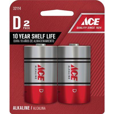 Ace D Alkaline Batteries 1.5 volts 2 pk
