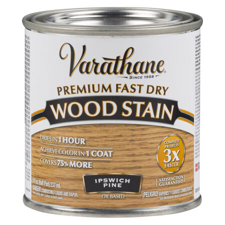 Varathane Semi-Transparent Ipswich Pine Oil-Based Urethane Modified Alkyd Wood Stain 0.5 pt.