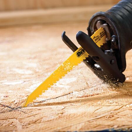 "6"" 6 TPI Taper Back Bi-Metal Reciprocating Blade for General Purpose Wood Cutting (5 pack)"