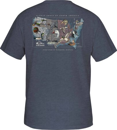 Flyway Species Map Tee S/S