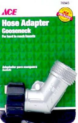 Ace Zinc Gooseneck Hose Adapter Threaded