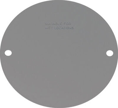 Sigma Round Steel 2 gang Blank Box Cover For Wet Locations Gray