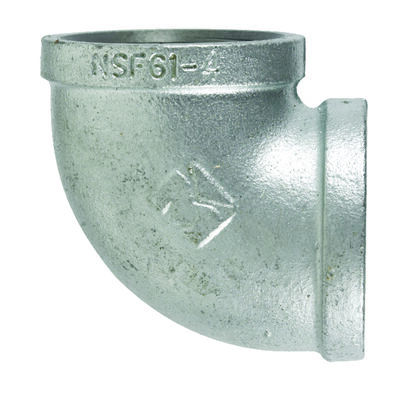 B & K 1-1/4 in. Dia. x 1-1/4 in. Dia. FPT To FPT 90 deg. Galvanized Malleable Iron Elbow