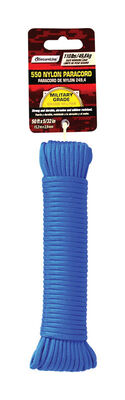 SecureLine 5/32 in. Dia. x 50 ft. L Braided Nylon Paracord Blue