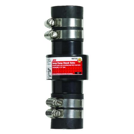 Ace 1-1/4 FPT X 1-1/4 FPT Plastic Sump Pump Check Valve