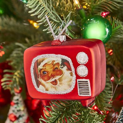 "EC 3.5"" Retro TV Ornament"