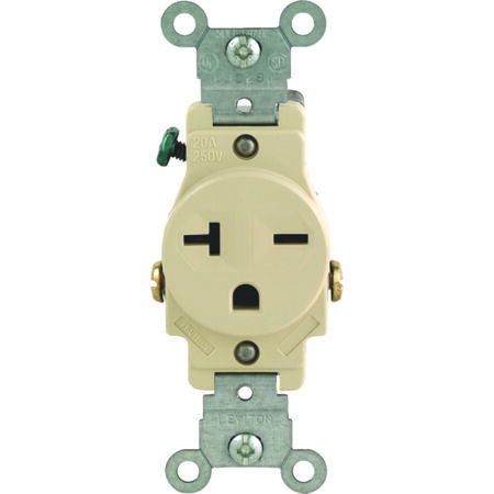 Leviton Electrical Receptacle 20 amps 6-20R 250 volts Ivory