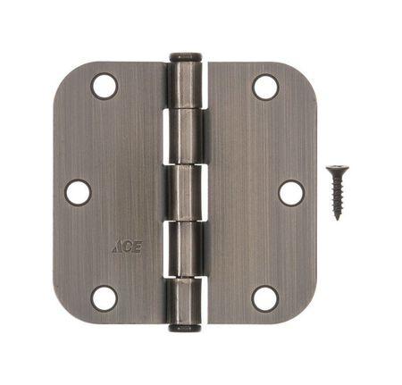 Ace Steel Residential Hinge 3-1/2 in. L Antique Brass 1 pk
