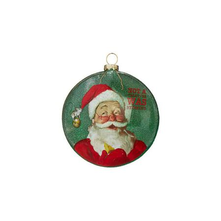 "4"" Santa Disc Ornament"