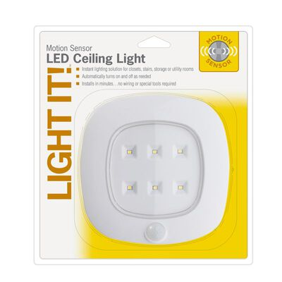 Fulcrum LIGHT IT White Light with Motion Sensor 2 in. D x 8.63 in. H x 8 in. W C LED