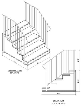 Hand Rail Cement Step 010057S