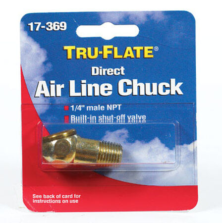 Tru-Flate Brass Air Line Chuck 1/4 in. NPT Male