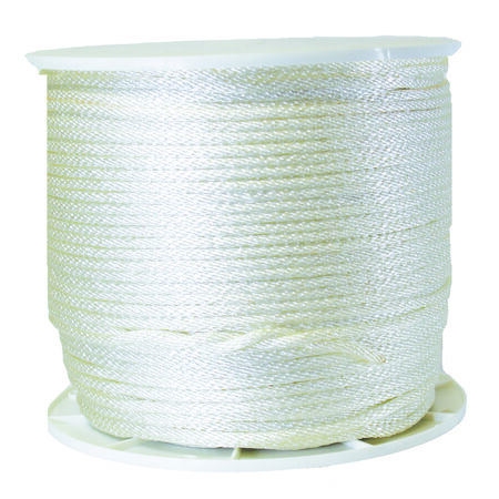 Wellington 1/4 in. Dia. x 1000 ft. L Solid Braided Nylon Rope White - Sold by the foot