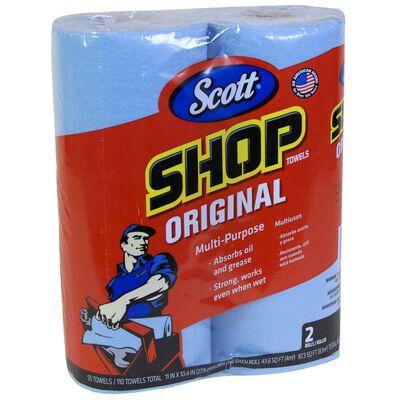 Scott Paper Shop Towels 10.4 in. W x 11 in. L 2 pk