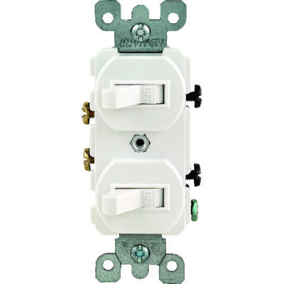 Leviton 1 15 amps White Toggle Combination Switch 1 Combination