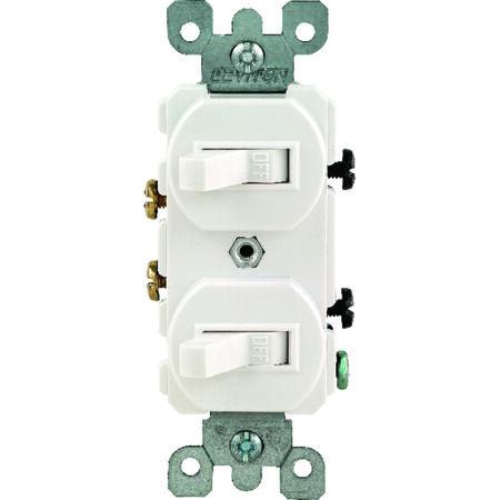Leviton 1 15 amps White Toggle Combination Switch 1 Combination