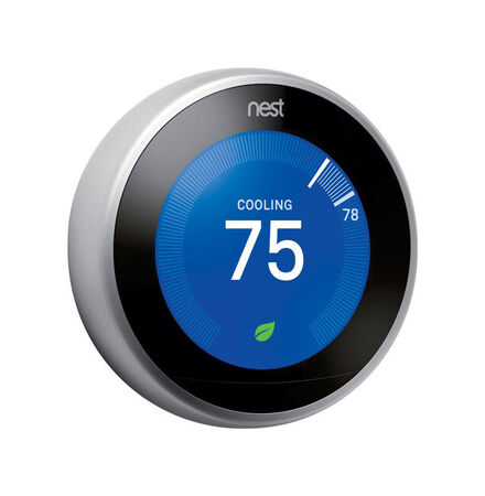 Nest Learning Thermostat - 3rd Generation 2.08 in. H x 2.08 in. W Smart Thermostat Built In WiFi