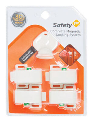 Safety 1st White Plastic Magnetic Cabinet Locks 5 pk