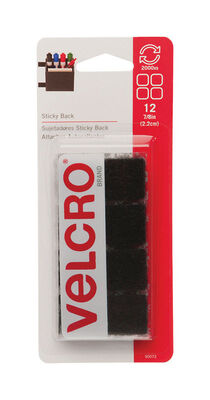 Velcro 7/8 in. L x 7/8 in. W Hook and Loop Fastener 12 pk