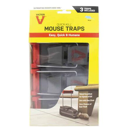 Victor Quick-Kill Small Snap Trap For Mice 3 pk