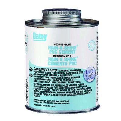 Oatey Rain-R-Shine Blue PVC Cement 32 oz.