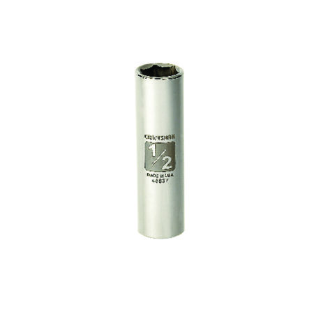 Craftsman 1/2 in. x 3/8 in. drive SAE 6 Point Deep Socket 1 pc.