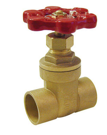 B & K 3/4 in. 3/4 in. Dia. Red Gate Valve 200 psi