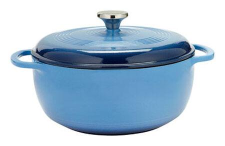 Lodge Logic Porcelain Enamel Dutch Oven Blue 14 in. L 6