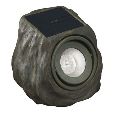 Living Accents Powered by Duracell Solar-Powered LED Spot Light Rock Green 0.35 watts 1 pk