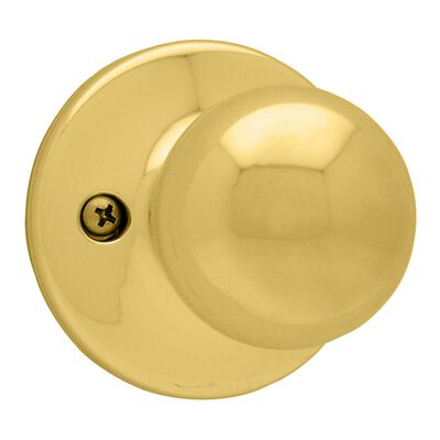 Kwikset Polo Dummy Knob Polished Brass Steel 3 Grade Left Handed Right Handed