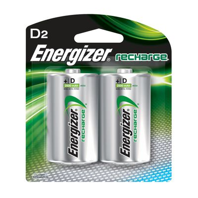 Energizer NiMH D 1.2 volts Rechargeable Batteries NH50BP-2R2