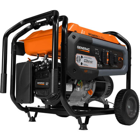 GENERAC 7680 BLUETOOTH PORTABLE GENERATOR, 6500 WATTS, 120 VOLTS