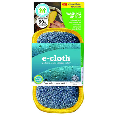 E-Cloth Washing Up For All Purpose Scouring Pads 4 in. W x 7 in. L