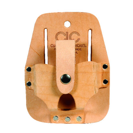 CLC 1 Tan Leather Tape Rule Holder 4.5 in. H x 3.5 in. L x 1.3 in. W