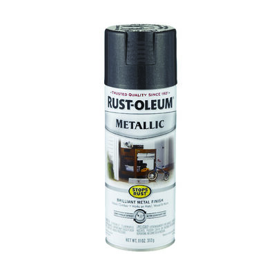 Rust-Oleum Stops Rust Black Night Gloss Metallic Spray 11 oz.