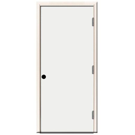 Steel Prehung Front Door Left Hand - 36 in x 80 in