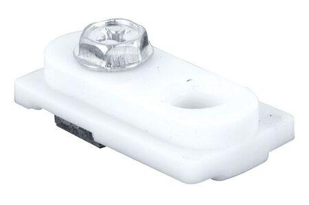 Prime-Line Plastic Coat Bi-fold door top pivot 1 pc. White Bracket