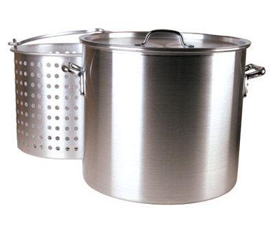 FDL Aluminum Boiling Pot 80 qt. Silver
