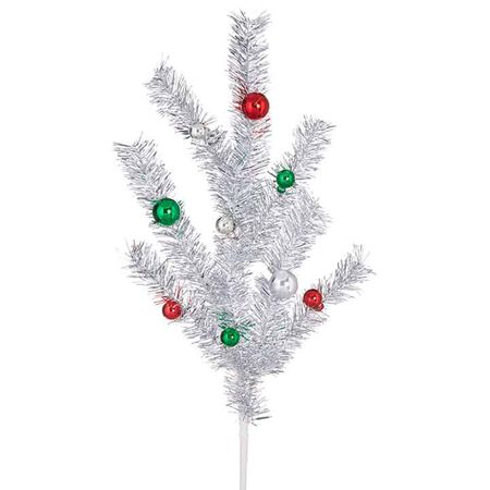 "31"" Tinsel Ball Spray"