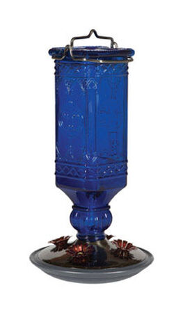 Perky-Pet Hummingbird Glass 16 oz. Bottle Nectar Feeder 4
