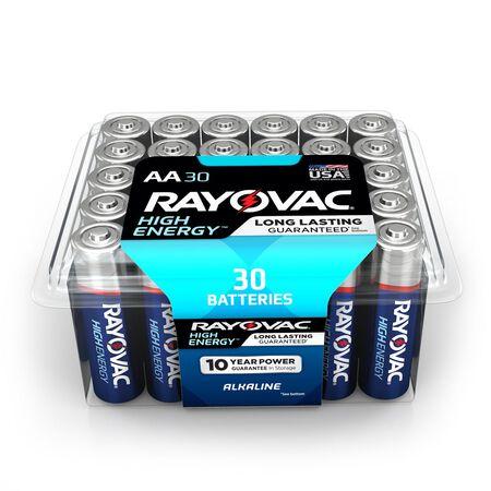 Rayovac AA Alkaline Batteries 1.5 volts 30 pk